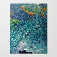 Ocean Depth abstract painting photograph Canvas Print