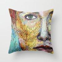 Map self portrait Throw Pillow