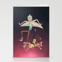 Rick and Morty - Pink Gravity Stationery Cards