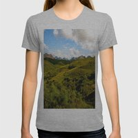 Mountain Sound  Womens Fitted Tee Athletic Grey SMALL