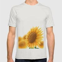 Sunflower Mens Fitted Tee Silver SMALL