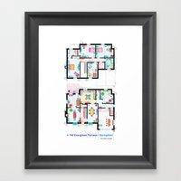 The house of Simpson family - Both floorplans Framed Art Print