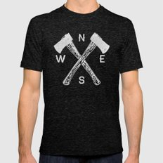 Compass 2 Mens Fitted Tee Tri-Black SMALL
