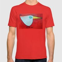 Birdy Blue Mens Fitted Tee Red SMALL