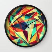 Broken Rainbow Wall Clock