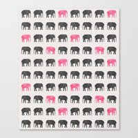 Elephant walk  Canvas Print