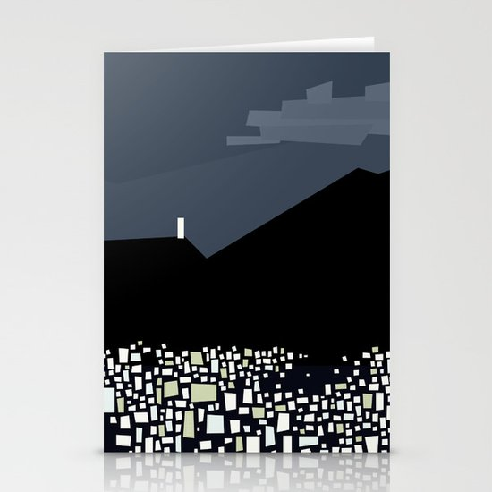 Caracas City at Night by Friztin Stationery Card