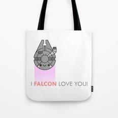 i FALCON love you Tote Bag