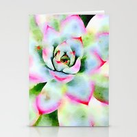 Watercolor Succulent Stationery Cards