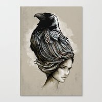 Raven Haired Canvas Print