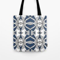 Triangle Tribal #2 Navy Tote Bag