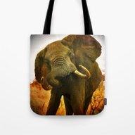 Mad Elephant Tote Bag