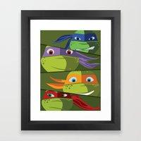 Teenage Mutant Ninja Turtles Vector Art Framed Art Print