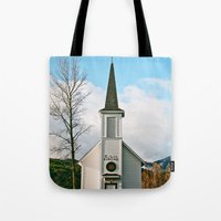 Country Church In The Mo… Tote Bag