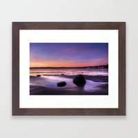 Dawn at Filey Framed Art Print