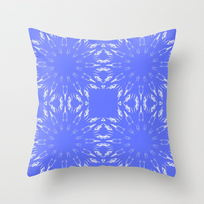 Periwinkle Blue Color Burst Throw Pillow by 2sweet4words Designs Society6