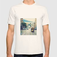 San Francisco Cable Car Mens Fitted Tee Natural SMALL