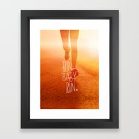 Run Baby Run Framed Art Print
