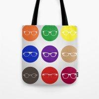 9 Glasses Styles Tote Bag