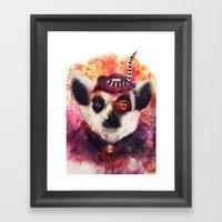 Lemur ( The Pimp Le-Mur … Framed Art Print