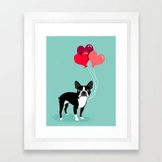 Boston Terrier Valentine… Framed Art Print