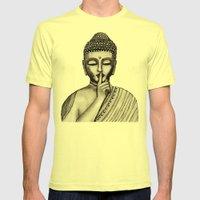 BUDDHA Mens Fitted Tee Lemon SMALL