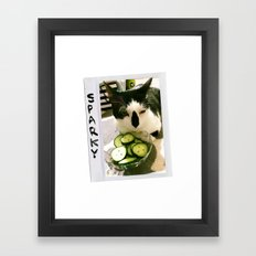 Sparky and Cucumbers Framed Art Print