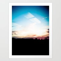 Sky And Reflection Art Print
