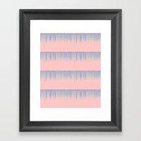 Drip Stripe Framed Art Print