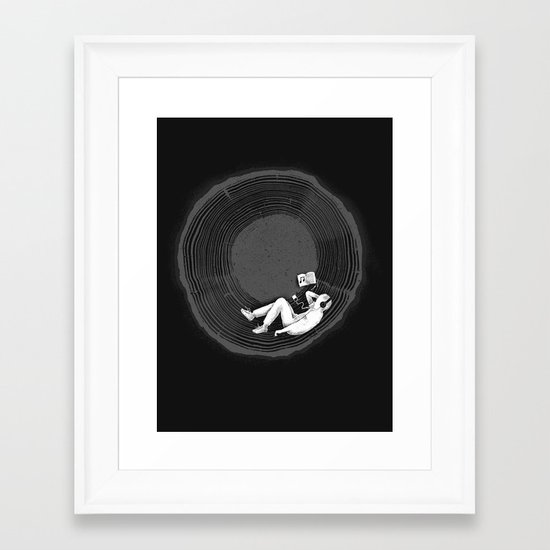 Feel calm and peaceful Framed Art Print