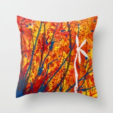 Petal Drop Throw Pillow