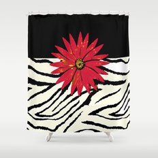 Animal Print Black And W… Shower Curtain
