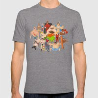 Street Fighter Mens Fitted Tee Tri-Grey SMALL
