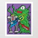 Robot Monster Power Jam Art Print