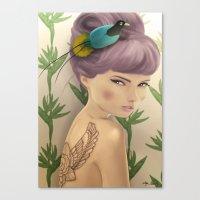 Paradise Bird Canvas Print