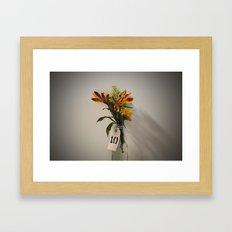 Lonely Flowers Framed Art Print