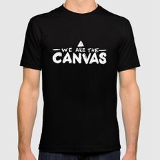 Canvas Black SMALL Mens Fitted Tee