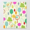 Trees Pattern Print Canvas Print
