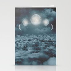 Uncertain. Alone. Cratered By Imperfections. (Loyal Moon) Stationery Cards