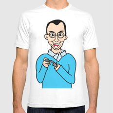 Buster Bluth White Mens Fitted Tee SMALL