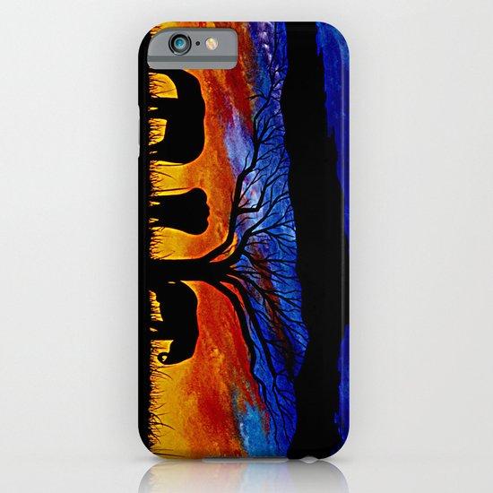 Sunset Elephants iPhone & iPod Case