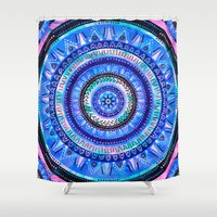 Mandala 2 {blue} Shower Curtain