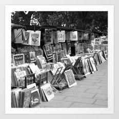 Books by the Seine Art Print