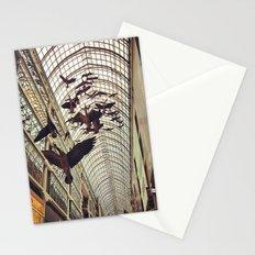 bird christmas shopping Stationery Cards