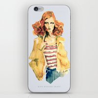 Portrait of Karen Elson iPhone & iPod Skin