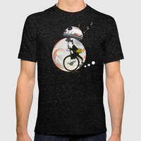 CAT INSIDE DROID Mens Fitted Tee Tri-Black SMALL