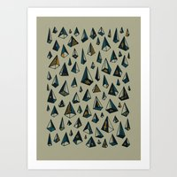 Triangles Are My Favorit… Art Print