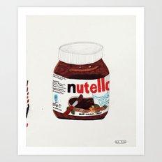 Nutella Art Print