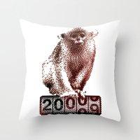 Save Golden Monkeys Throw Pillow