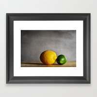 Lemon And Lime Framed Art Print